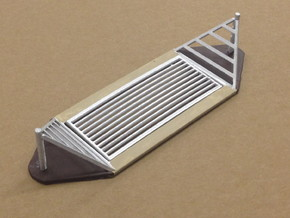 Cattle Guard (HO) in White Natural Versatile Plastic: 1:87 - HO