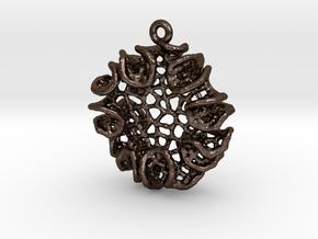 Bloom Pendant in Polished Bronze Steel