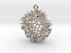Bloom Pendant in Rhodium Plated Brass