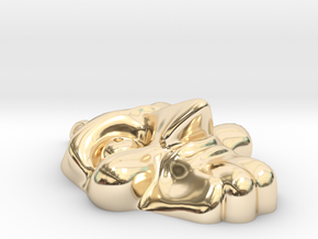 The Saw Pendant Shell in 14k Gold Plated Brass
