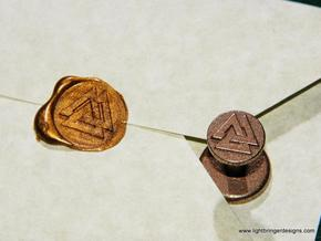 Valknut Wax Seal in Polished Bronzed Silver Steel