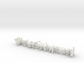 3dWordFlip: YouAreSoAwesome!/ILoveYouMySister! in White Natural Versatile Plastic