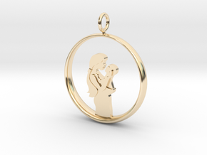 Mother & Infant Pendant -Motherhood Collection in 14K Yellow Gold