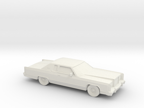 1/76 1978 Lincoln Continental Coupe in White Natural Versatile Plastic