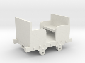 O-16.5 Talyllyn inspired workmans coach in White Natural Versatile Plastic