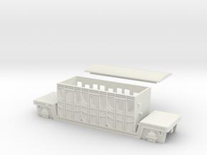 00 Scale Titfield Thunderbolt Dan's Coach in White Natural Versatile Plastic