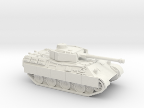 bergepanther (panzer IV turret) scale 1/100 in White Natural Versatile Plastic