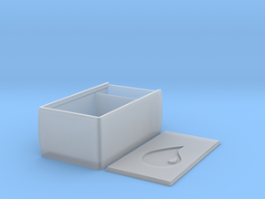Super Tough Sliding Lid Deckbox (Blue Mana) in Smooth Fine Detail Plastic