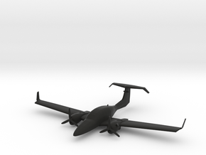 Diamond DA42 Twin Star in Black Natural Versatile Plastic: 1:87.1