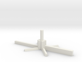 5mm Model Aircraft Stand in White Natural Versatile Plastic