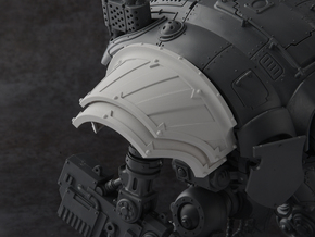 Hazard Warriors - Right Shoulder Pad in Smooth Fine Detail Plastic