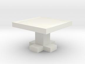 table in White Natural Versatile Plastic