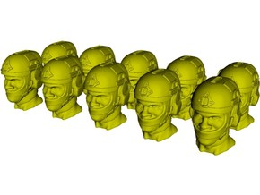 1/50 scale SOCOM operator E helmet & heads x 10 in Smoothest Fine Detail Plastic