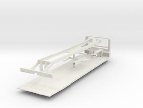 1/50th Roll Back Tilt Bed Wrecker in White Natural Versatile Plastic