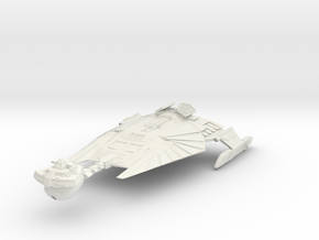 Klingon MarTil Class V  BattleCruiser in White Natural Versatile Plastic