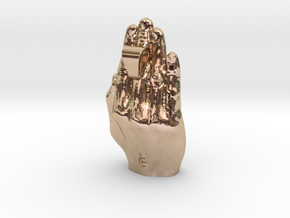 Hands Up - precious metals in 14k Rose Gold Plated Brass