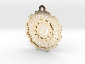 Magic Letter D Pendant in 14K Yellow Gold