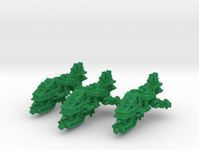 Ravager Missile Destroyers (3) in Green Processed Versatile Plastic