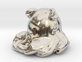 Dumbo octopus At 1.5 inch in Platinum: Small