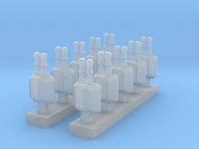 Heavy Armoured Turrets x10 in Smooth Fine Detail Plastic
