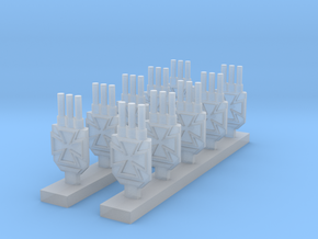 Iron Cross Turrets in Smooth Fine Detail Plastic