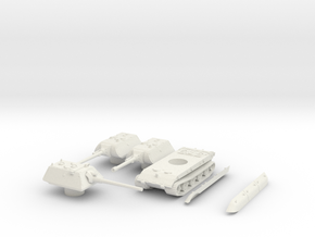 E100 (turret set) scale 1/100 in White Natural Versatile Plastic