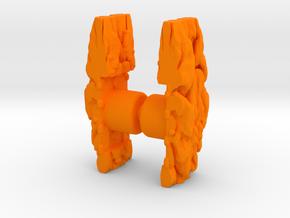 Repto Brains 2 Pack in Orange Processed Versatile Plastic