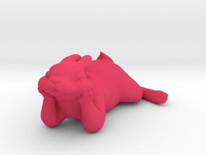 Happy Bunny in Pink Processed Versatile Plastic