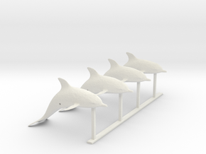 G Scale Dolphins H in White Natural Versatile Plastic