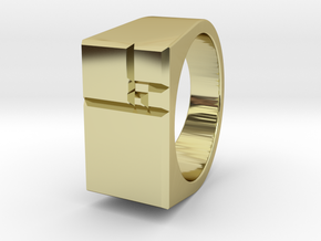 Squares Ring 13.67mm ID in 18k Gold