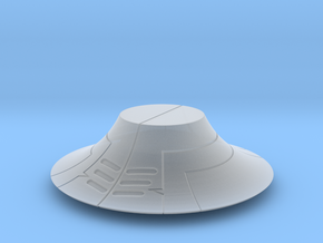 Medium Fancyhat in Smooth Fine Detail Plastic