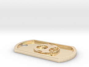 Super Smash Brothers Mario Bros. Themed Dog Tag in 14K Yellow Gold