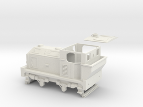 00 Scale 100hp (Post-War) Sentinel Shunter in White Natural Versatile Plastic