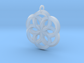 Spirit of Water Pendant in Smooth Fine Detail Plastic