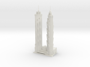 JW Marriott Marquis Dubai (1:1800) in White Natural Versatile Plastic