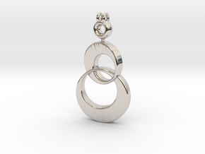 Shimmeria Pendant in Rhodium Plated Brass