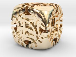 Art Nouveau d6 in 14K Yellow Gold