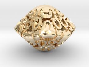Art Nouveau Decader d10 in 14k Gold Plated Brass