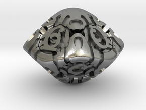 Art Nouveau d10 in Natural Silver