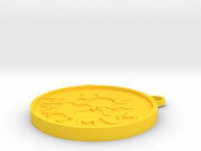 Maximus Medallion in Yellow Processed Versatile Plastic