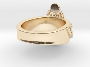 Sacred Scarab Ring in 14k Gold Plated Brass: 6 / 51.5