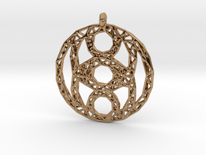 Circles Pendant 2 in Polished Brass