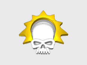 Halo Skull : Shoulder Insignia pack in Smooth Fine Detail Plastic