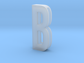 Choker Slide Letters (4cm) - Letter B in Smooth Fine Detail Plastic