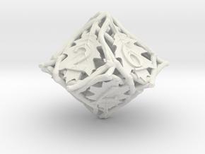 Botanical Die10 (Oak) in White Premium Versatile Plastic