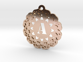 Magic Letter A Pendant in 14k Rose Gold Plated Brass