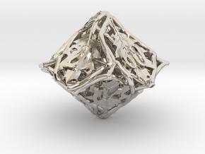 Botanical d10 Decader Ornament in Platinum