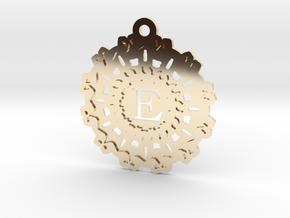 Magic Letter E Pendant in 14K Yellow Gold