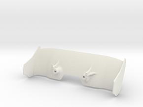 Aileron Mc Laren - Sharky in White Premium Versatile Plastic