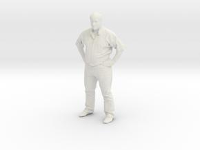 Printle F Jose Mujica - 1/18 - wob in White Natural Versatile Plastic